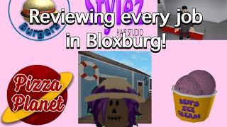 Reviewing All of the Jobs in Bloxburg! | ROBLOX | Welcome to Bloxburg
