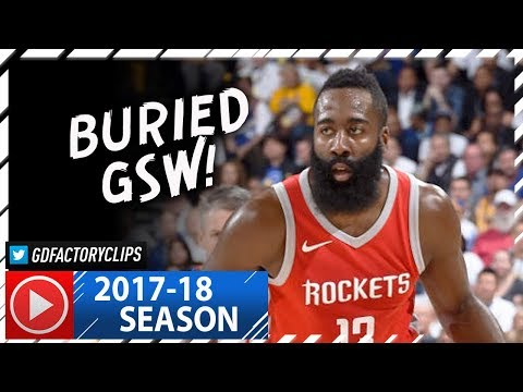 James Harden Full Highlights vs Warriors (2017.10.17) - 27 Pts, 10 Ast, 6 Reb, SICK!