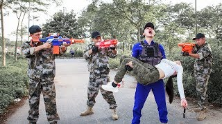 LTT Nerf War : Special police SEAL X Warriors Nerf Guns Fight Criminal Group Rescued Soldiers