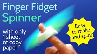 Origami Finger Fidget Spinner - DIY Paper Hand Spinner Without Bearing - Easy Tutorial