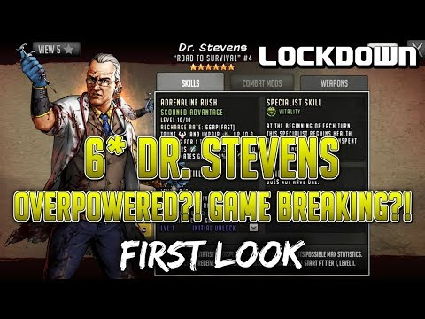 TWD RTS: 6* Dr. Stevens, Game Breaking?! - First Look - The Walking Dead: Road To Survival