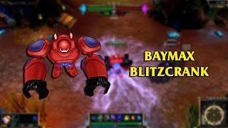 Big Hero 6 Baymax Blitzcrank LoL Custom Skin ShowCase
