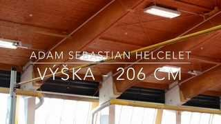 Adam Sebastian Helcelet - výška 206 cm
