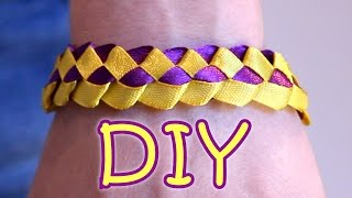 "DIY Ribbon Bracelet ""Loopy"" - How To Make a Ribbon Bracelet"