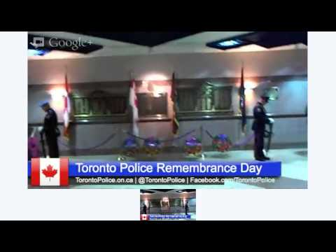 Toronto Police Service Remembrance Ceremony 2012 & Jarvis Collegiate Singers