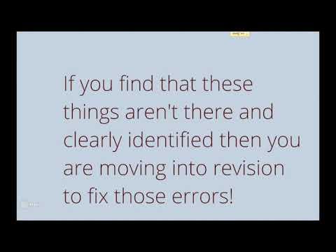 Editing Revising