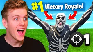 Reacting To My *FIRST* Victory Royale In Fortnite Battle Royale! thumbnail