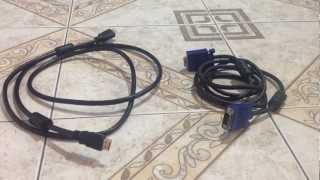 Diferencias cable VGA y cable HDMI - Conectores al ordenador