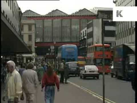 1990 Glasgow City Centre Street Scenes, Archive Footage