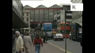 1990 Glasgow City Centre Street Scenes, Archive Footage
