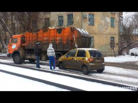 Затор в Краснооктябрьском районе Волгограда