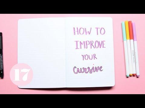 How to write good cursive handwriting
