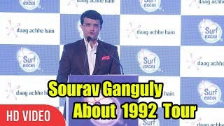 Sourav Ganguly About His 1992 Trip   Stories Of Indian Cricket By Sourav Ganguly
