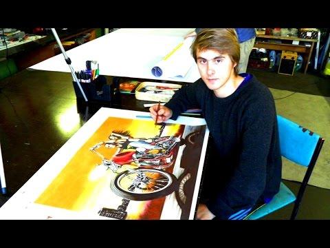 Как проходит мой день в мастерской, как я рисую закулисье