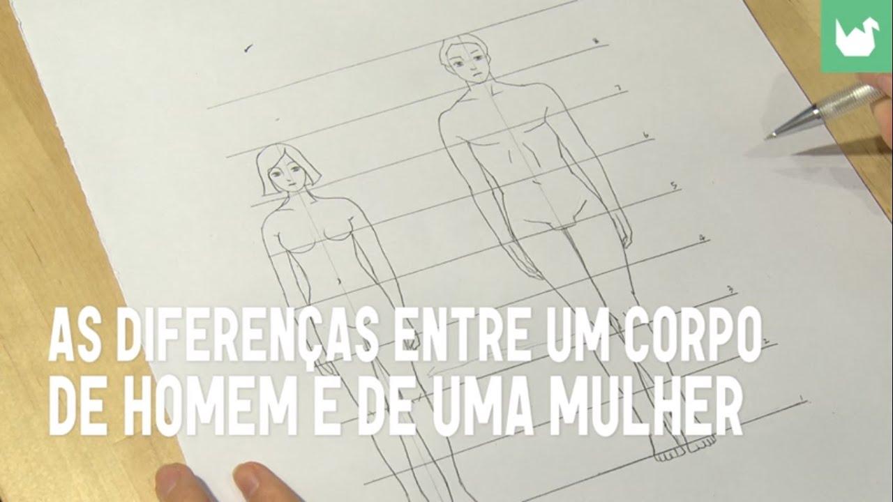 Diferencas Do Corpo Homem E Mulher Desenho Youtube