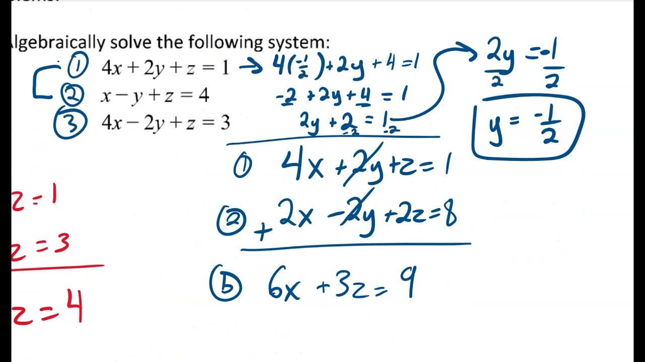how to solve a system of equations with 2 variables