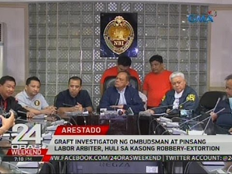 Graft investigator ng Ombudsman at pinsang labor arbiter, huli sa kasong robbery-extortion