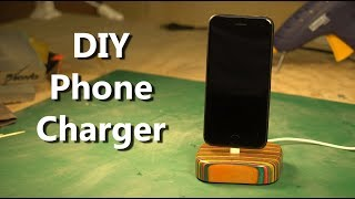 DIY Smartphone Charging Dock  -  Made From A Recycled Skateboard