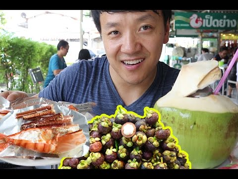 Thai STREET FOOD Tour of Or Tor Kor Market in Bangkok Thailand!