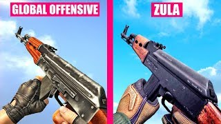 Counter-Strike Global Offensive Gun Sounds vs ZULA