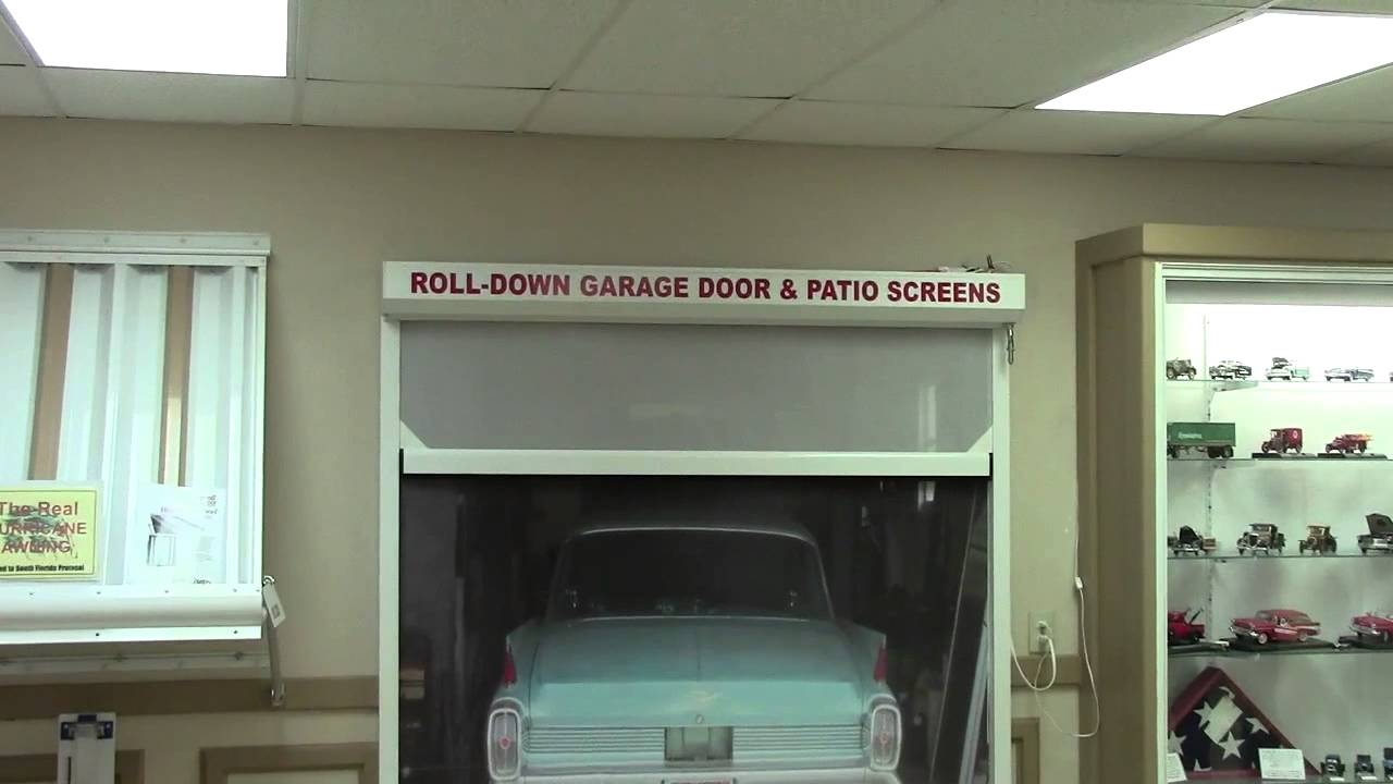 Garage door with roll down screen patio screen door for Roll down garage door screen