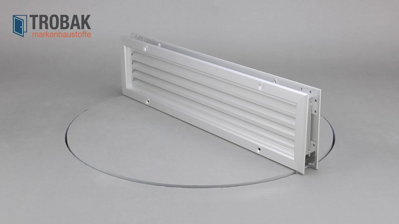 Turlufter Turgitter Aus Aluminium Eloxiert 50 X 10 Cm Trobak 0609053831007 Youtube
