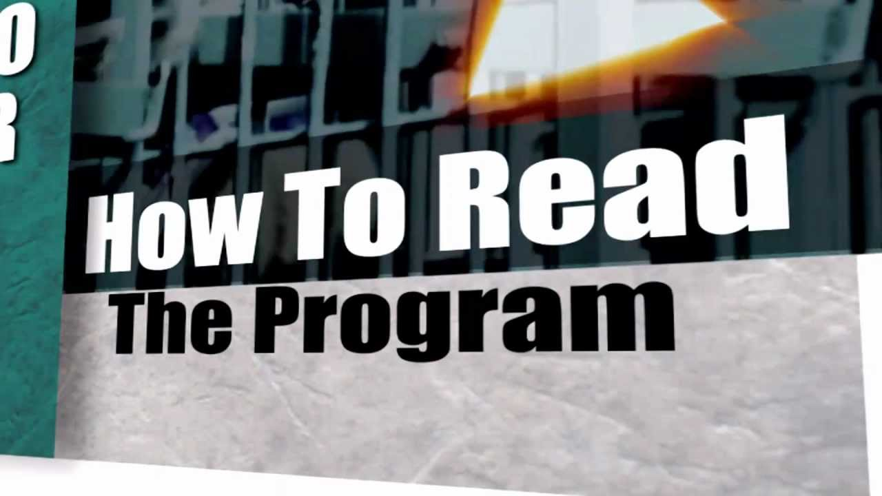 Intro to racing how to read the program youtube intro to racing how to read the program falaconquin