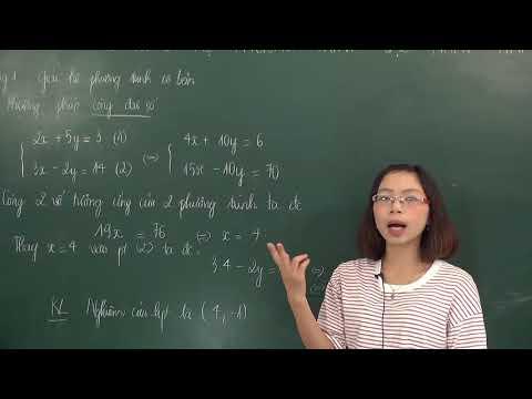 Phương pháp cộng đại số giải hệ phương trình - Toán 9