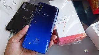 Xiaomi Redmi 7 Comet Blue color unboxing