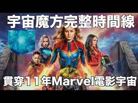 【Captain Marvel嚴重劇透】逆轉無限貫穿Marvel電影宇宙!!解讀宇宙魔方時間線,橫跨11年21套電影迎接Endgame!!