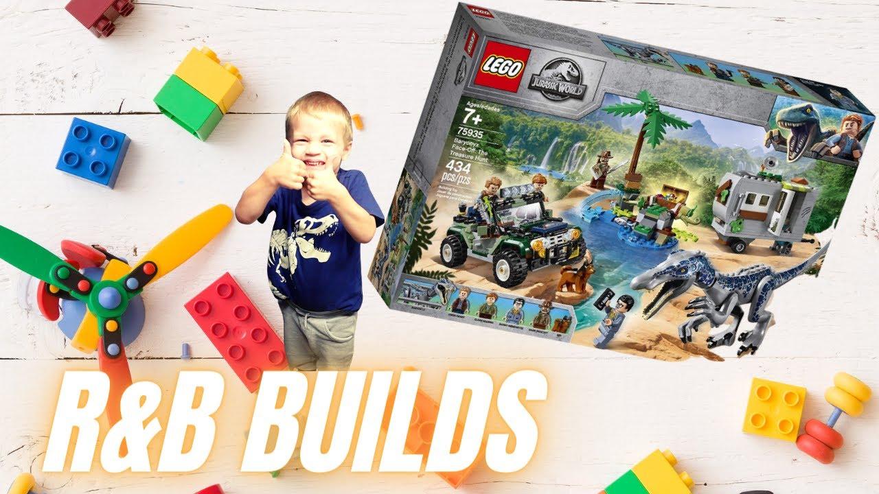 R & B Builds LEGO Jurassic World Set 75935 Baryonyx Face-Off: The Treasure Hunt