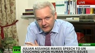 Julian Assange addresses UN on human rights (Live cut version)