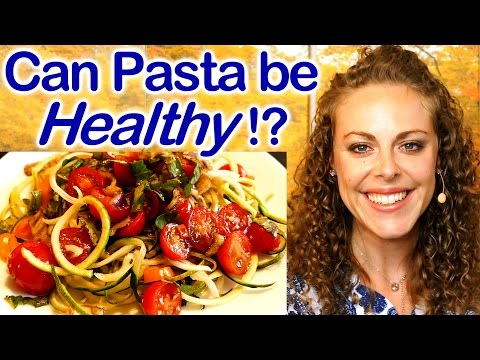 Is Pasta Healthy?! Health Tips & Low Carb Recipe for Spaghetti Inspired Meal! Spiralize Veggies!