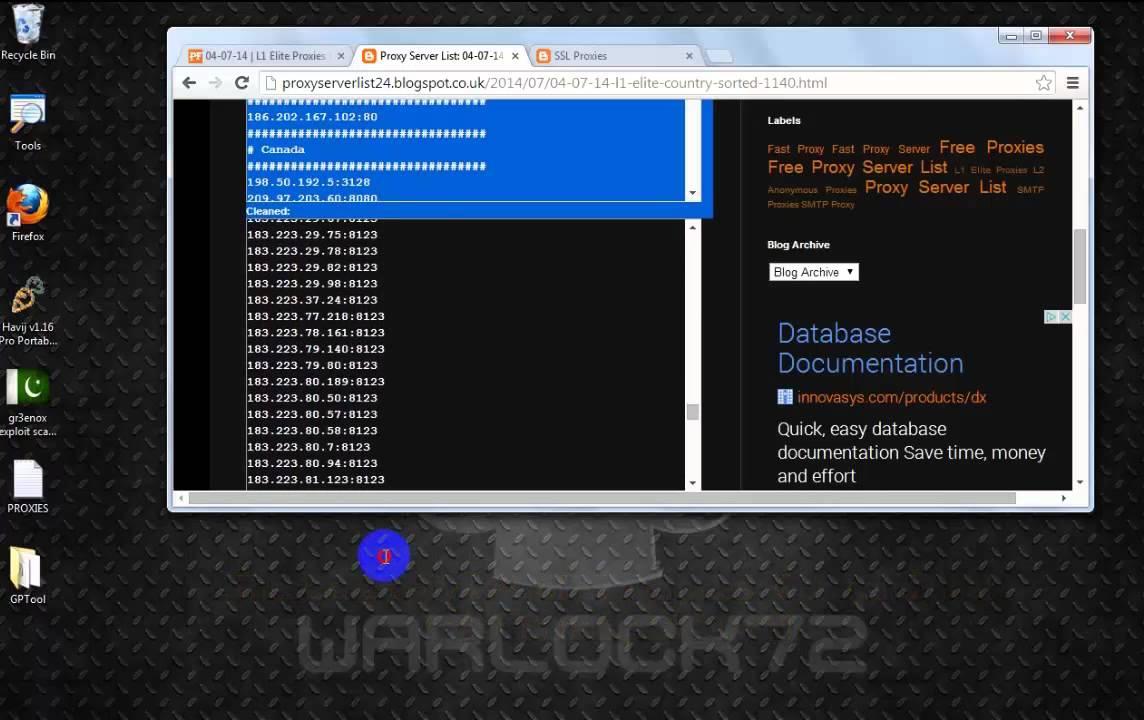 Free HTTP proxy list - Список рабочих прокси серверов