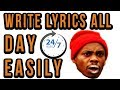 How To Write Lyrics All Day No Problem