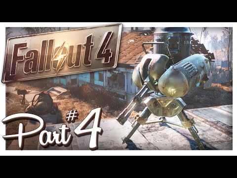 BASE BUILDING & DEFENSE TURRETS! | Fallout 4 Gameplay Part 4 (PC Let's Play)