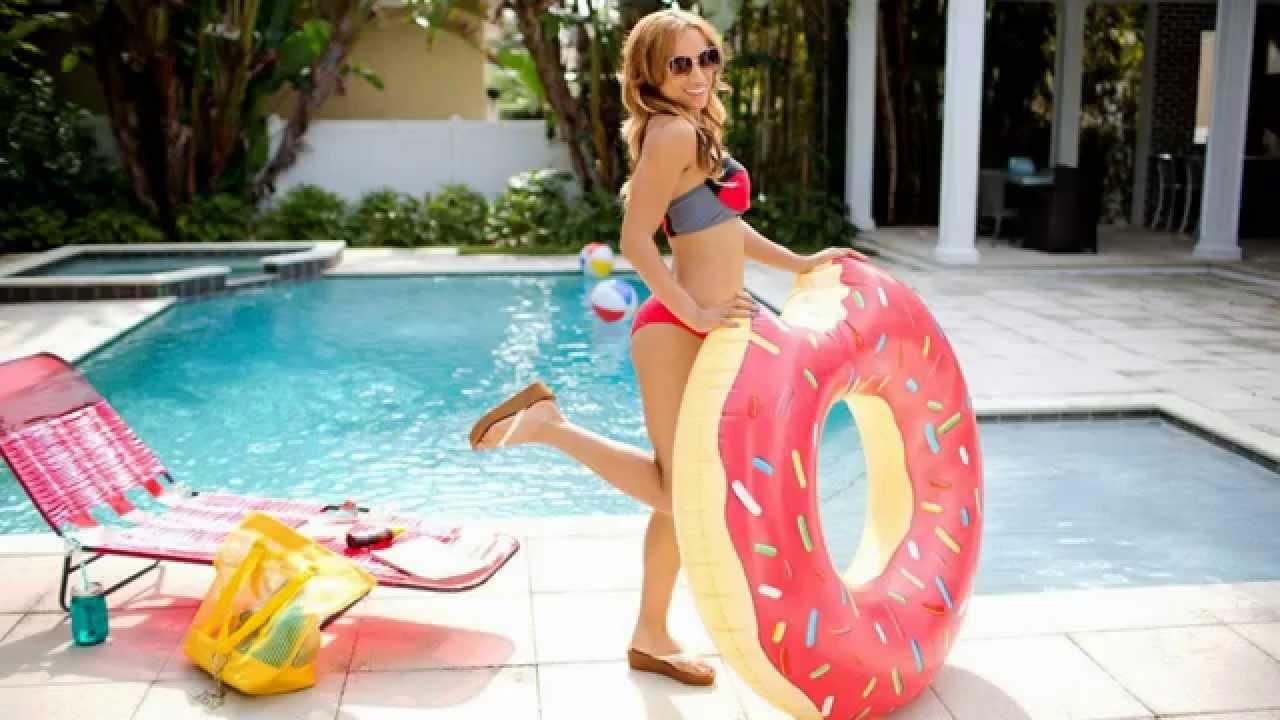 Wwe nxt summer vacation sasha banks slide show youtube for Pool show charlotte
