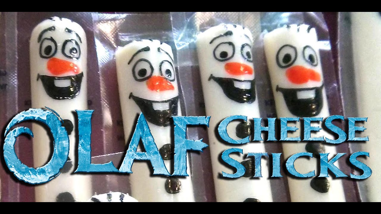How to Draw Olaf on a Cheese Stick for a Frozen Birthday Party アナと雪の女王のチーズスティック - YouTube