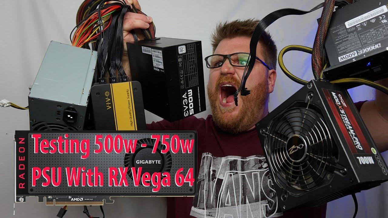 AMD Radeon RX Vega 64 Power Supply Testing
