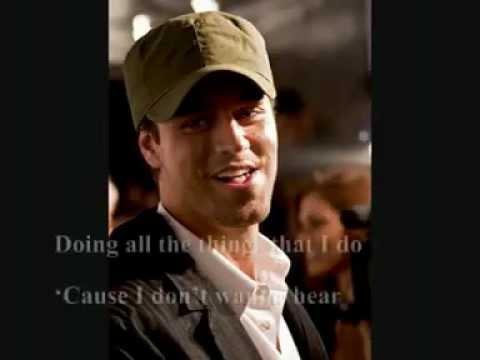 Enrique Iglesias Say it with lyrics