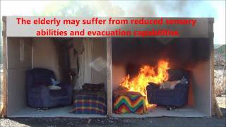 Ignition to Flashover Side-by-Side Burn Demonstration [HD]