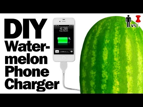 DIY Watermelon Phone Charger - Man vs. Pin - Pinterest Test #51