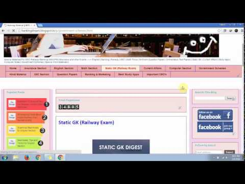 Tutorial Video | How To Download Study Material From Our Website | IBPS | Railway | SSC Exams
