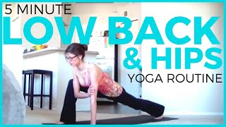 Download lagu 5 minute Yoga for LOWER BACK & HIPS | Sciatica, Athletes & Low Back Pain