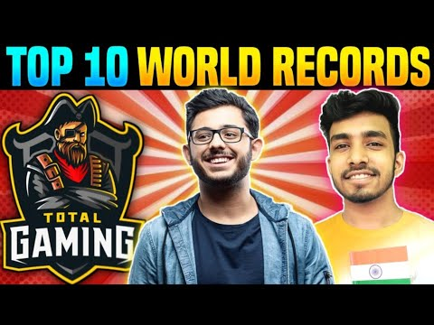Top 10 World Records by Indian Gamers🇮🇳 - Ft. Total Gaming, Techno Gamerz, Scout and More