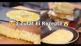7 Kreative Rezepte für die ihr nur Eier braucht! /// 7 Eier Hacks#