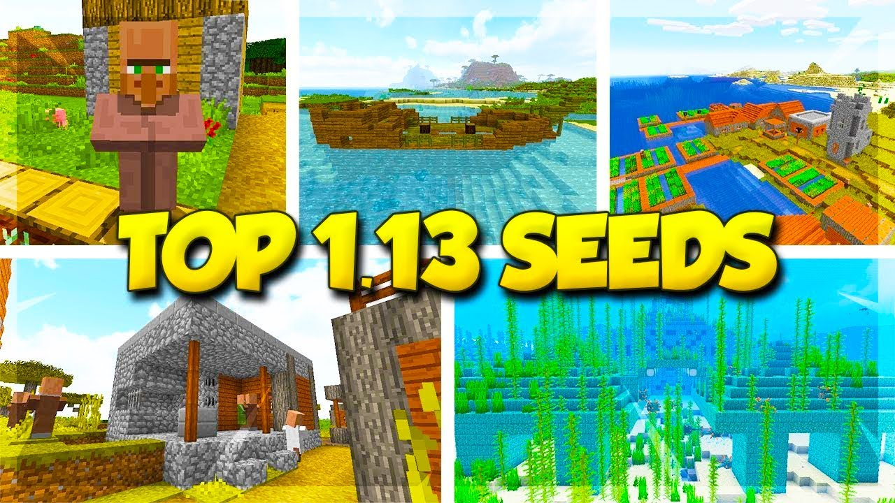 5 Village Seeds for Minecraft 1 13 [Video] - Minecraft Seed HQ