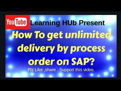 How to get unlimited delivery of goods from process order in SAP?