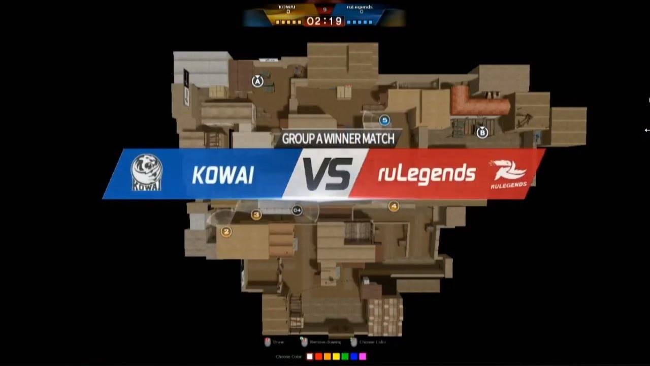 cfs2016 rulegends vs kowai group a day1 map mexico youtube