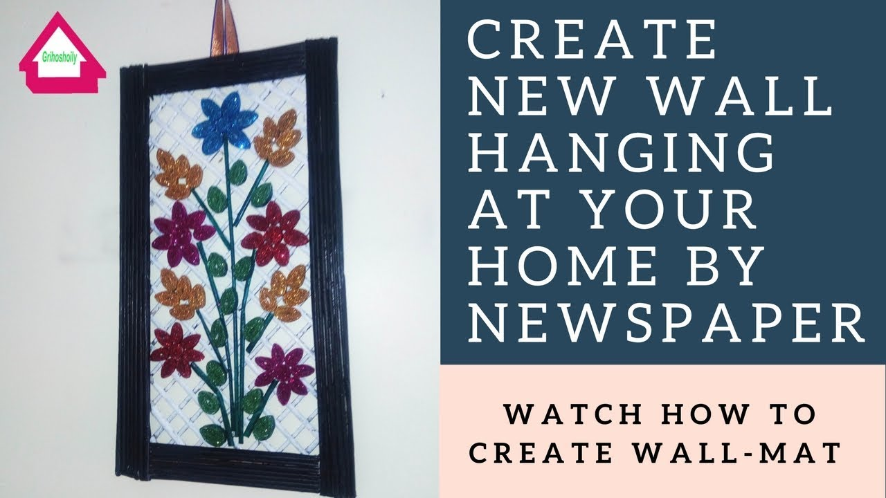 Make Wall Hangings At Home With Paper How To Make Easy Paper Wall Hanging Wall Mats For Home